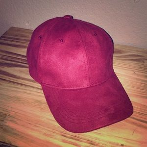 Maroon/ Red suede hat!